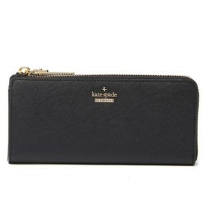 kate spade nisha leather zip-around wallet
